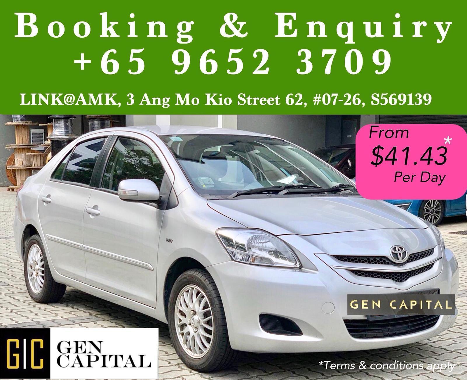 Toyota Vios 1.5A • Grab Gojek Ryde Tada & Non PHV Car Rental
