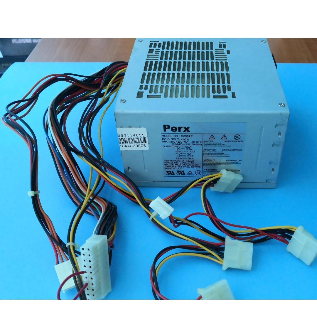 Used PC power supply for desktop PC, 230W, 300W, 400W