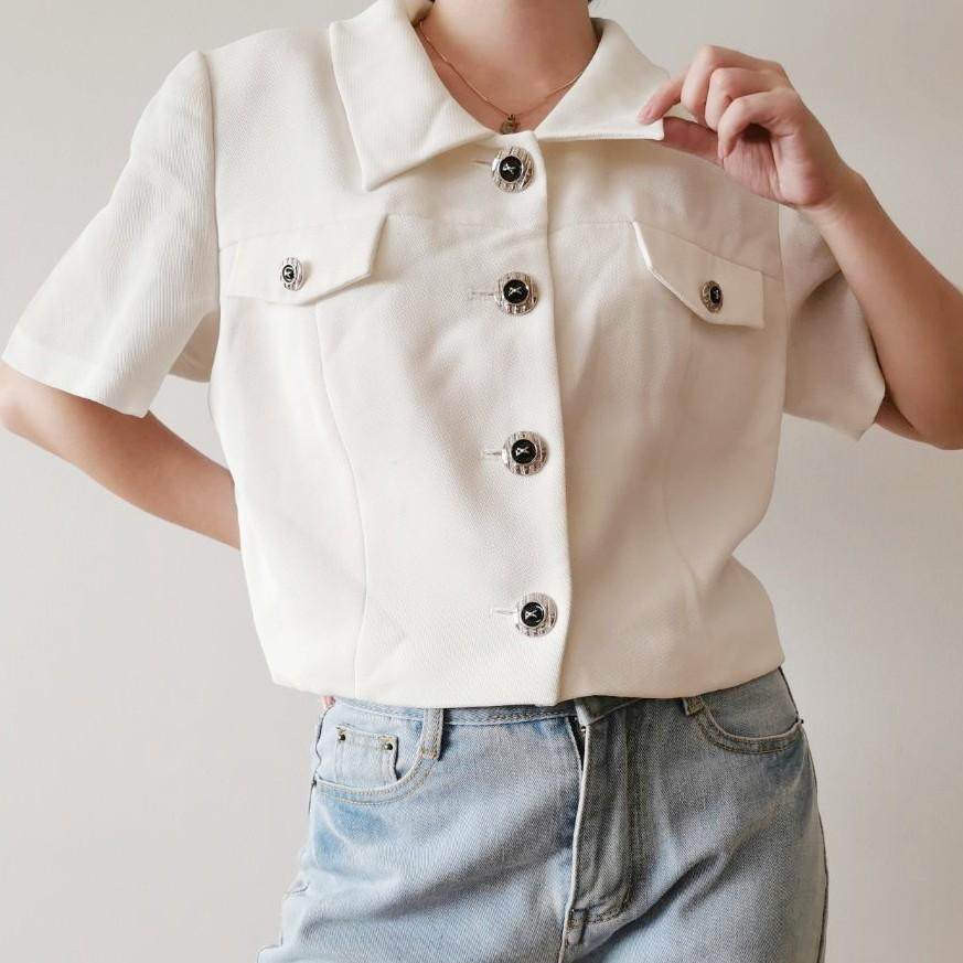 Vintage Button Up Top