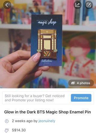🚚 [LAST CALL] BTS MAGIC SHOP ENAMEL PIN