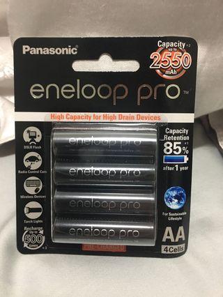 2550mAh Eneloop AA rechargeable battery