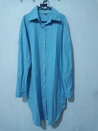 Dress Denim Biru
