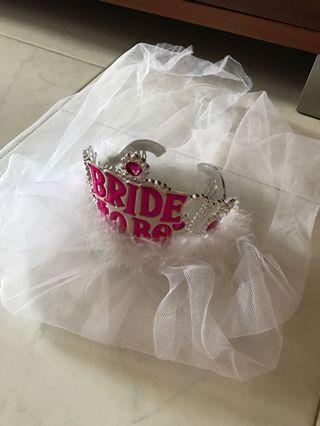 """🚚 To bless - """"Bride to be"""" hairband"""