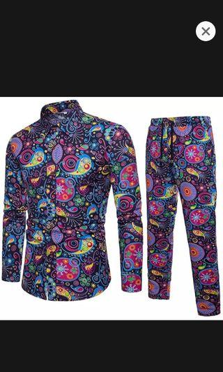 🚚 Mens party pants and flower shirts
