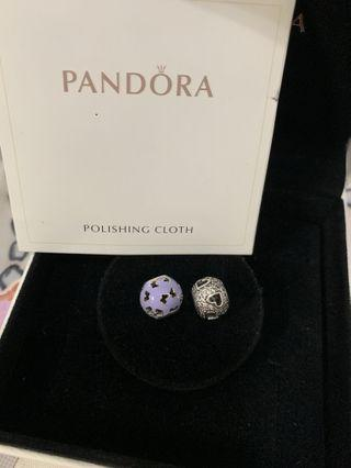 PANDORA 925 sterling silver charm with cubic zirconia
