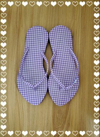 【全新】紫色人字拖鞋 (35號鞋)