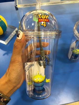 限量版*Disney反斗奇兵Toy Story三眼仔夾公仔吸管閃光杯