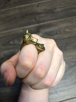 Cincin rubah - fox ring unik