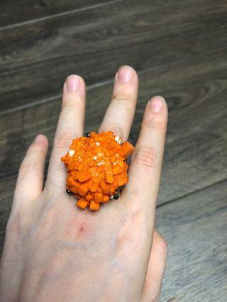 Cincin batu orange import