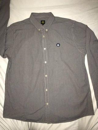 pretty green button down shirt oasis britpop