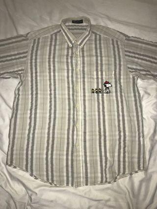 90's peanuts button down shirt