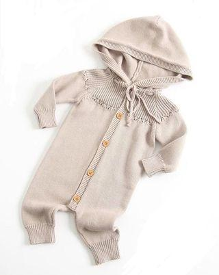 Doll me up kids knit hoody romper 9 months