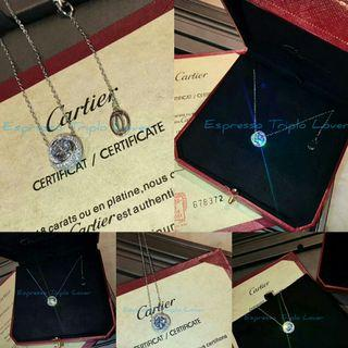 [C•@•R•T•!•€•R]Diamond Trinity Pendant with necklace set[CTRWN15A06] #CarousellBetter