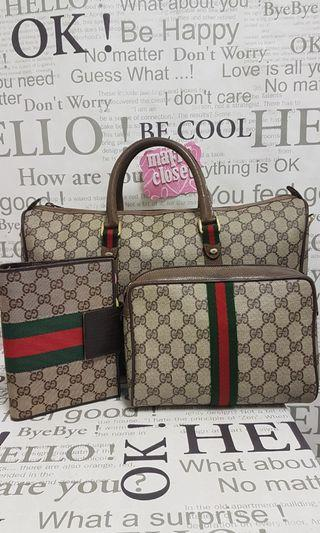 Authentic Gucci sherry line bundle