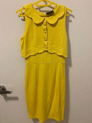 Dress with scallop collar