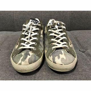AUTHENTIC GOLDEN GOOSE DELUXE GGDB CAMO LOW CUT SHOES VERY RARE