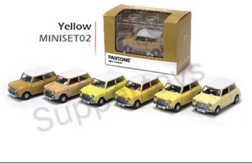Tiny 微影合金車仔 - Mini Cooper X Pantone Set (Yellow)