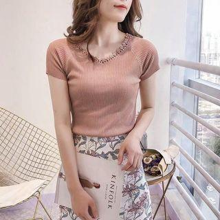 🚚 Knitted honey colour beautiful Top (reduced)