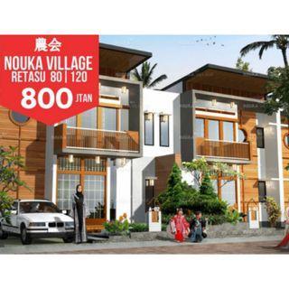 Rumah Adem Konsep Jepang Nouka Village di Lembang harga ALL IN