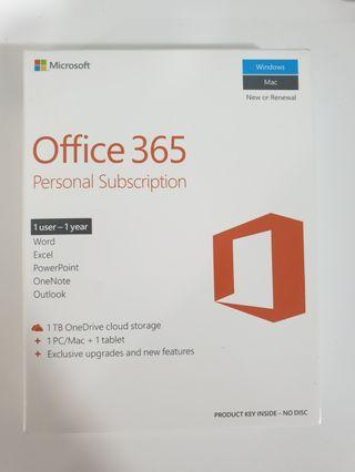 Microsoft Office 365 for 1 PC Office Suite with 1TB One Drive