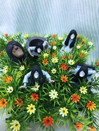 日本 全新 現貨 熊貓之穴 戽斗 厚道貞子 扭蛋 轉蛋~電視機款 水井款 爬行款 獅子款~單款販售~整套銷售~
