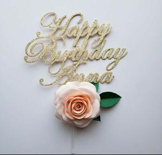 Flower Paper Cake Topper