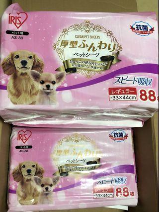IRIS Clean Pet Sheets 寵物尿片 88片/包 狗狗尿墊