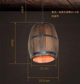 🚚 Barrel hanging light x 2