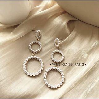 ulzzang pearl earrings