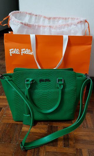 Folli Follie detachable long strap leather handbag