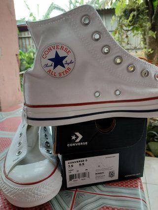 Converse White All Stars Hi