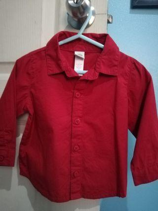 Red long sleeves for baby boy