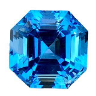 Asscher-(Big & No Inclusion) Natural Big Swiss Blue Topaz for a Pendant.  Flawless Clarity. Even Color, No Banding. Custom Pendant Setting with Gold can be done with your own design.T1/1/3719