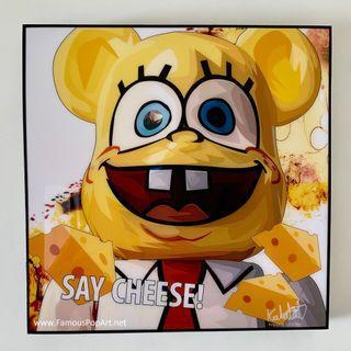 Bearbrick (Cheese) PopArt! Portrait pop art