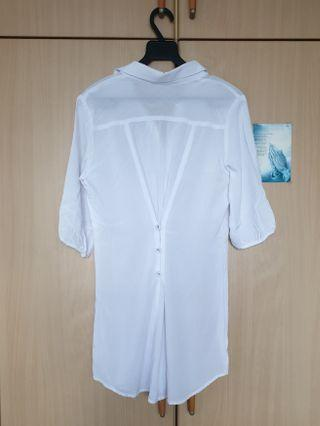 White Shirt Dress Top
