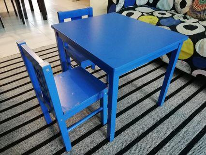 Ikea children's table and chair - Kritter