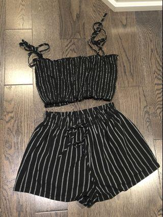 Black cute two piece outfit