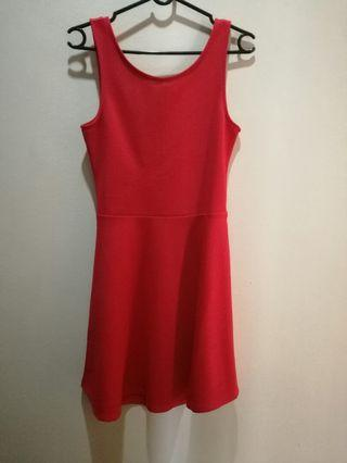 H&M Red Dress with Back cut out