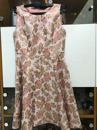 Flowers Dress (minimal gold )boutique