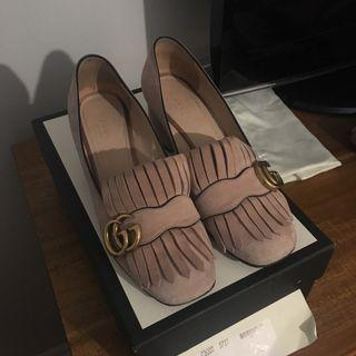 Gucci Marmont shoes in Crystal Pink