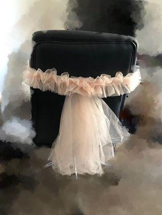 Wedding chairs tulle x 58