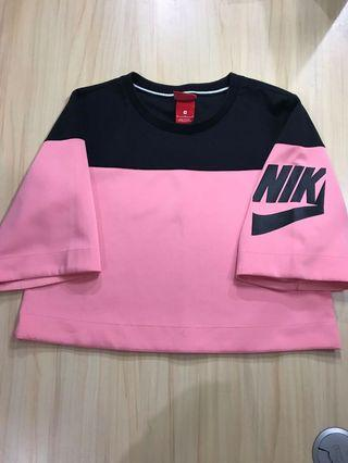 Nike Irrevent Crop T-Shirt Pink For Woman (Ori)