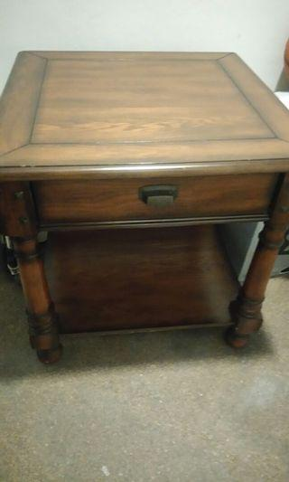 Wooden Side table / bedside stand / coffee table with drawer