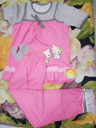 Set baju Tidur anak perempuan