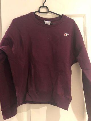 Burgundy champion sweater