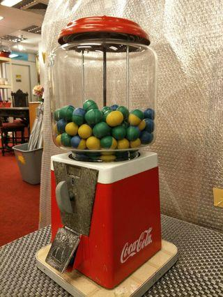 Coca Cola coin sweet machine  .