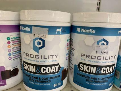Selling Cheap! NOOTIE PROGILITY SUPPLEMENTS! Hip & Joints, Skin & Coat, Calming! Soft Chews - Good stuff!
