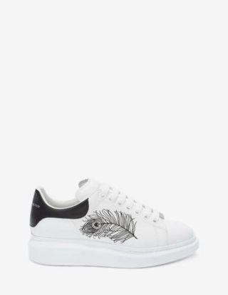 Alexander McQueen Feather Embroidered Oversized Sneaker