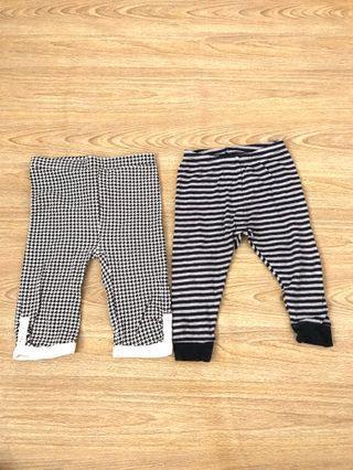 Baby legging pants set of 2