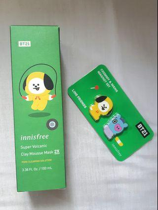 Clay Mousse Mask BT21 x Innisfree [CHIMMY]